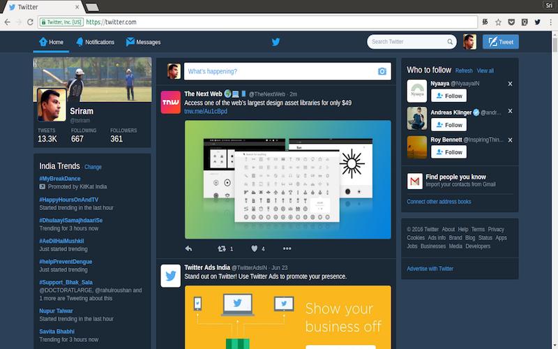 Twitter Night Mode for Chrome & Firefox