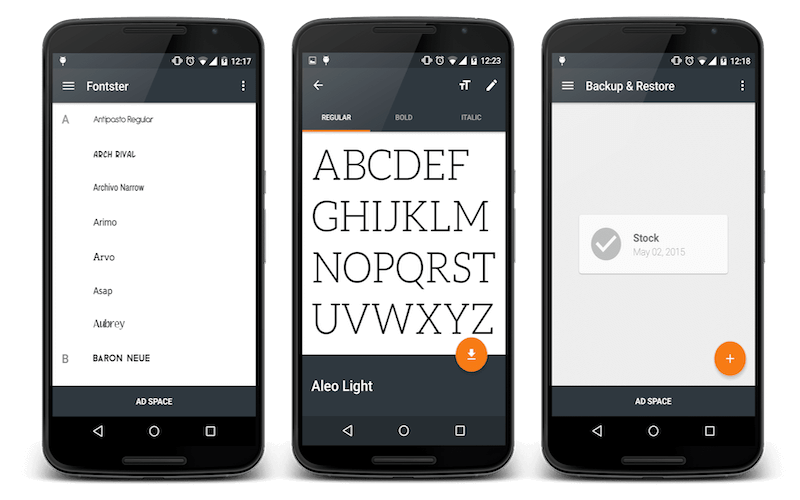 Change Android System Fonts with Fontster
