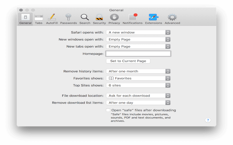 How to Stop Safari Opening Zip Files After Download