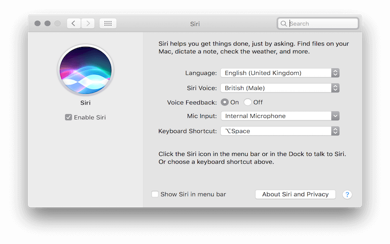 Activate Siri with a Voice Command in macOS Sierra